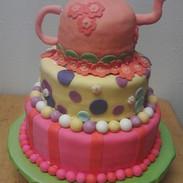 Whimsical, Three Tiered Cake