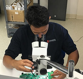 spindel electronics testing
