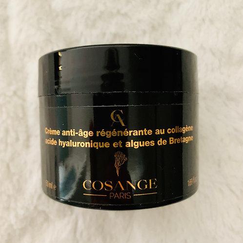 Crème anti-âge régénérante au collagène, acide hyaluronique, algues de Bretagne