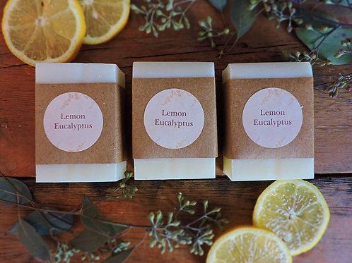 lemon eucalyptus + handmade soap + 3 bars