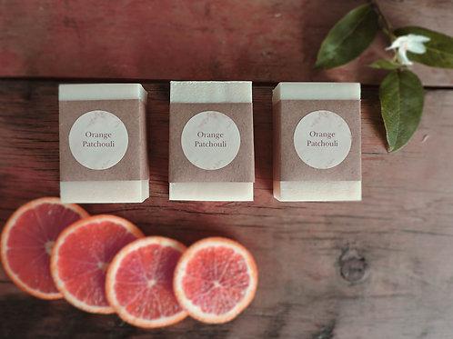 orange patchouli + handmade soap + 3 bars