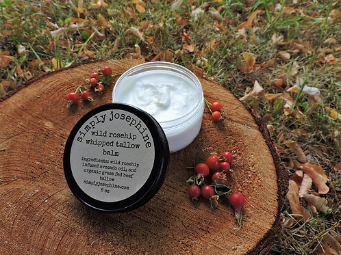 wild rosehip whipped tallow balm + essential oil free
