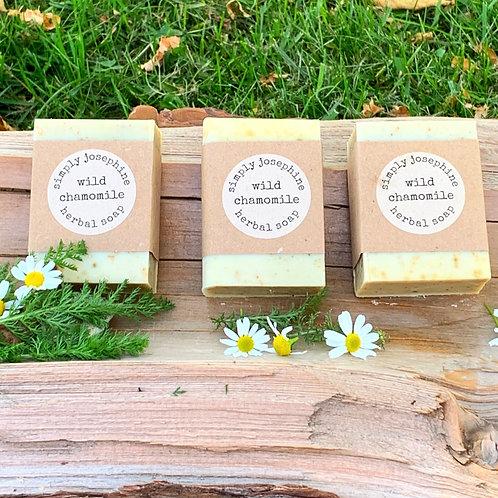 wild chamomile tallow + handmade soap + essential oil free + 3 bars