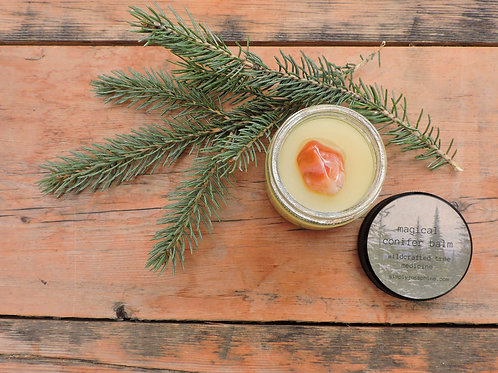 magical conifer balm + forest salve + essential oil free