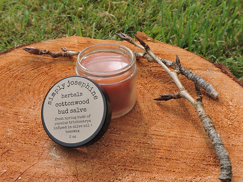 cottonwood bud salve + pain relief salve + balm of gilead + essential oil free
