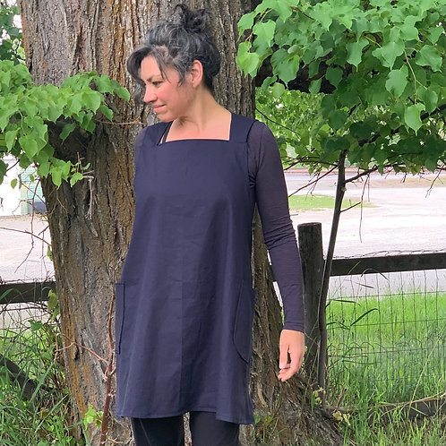 pinafore apron dress + full size cross back + maria apron