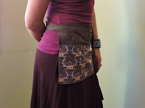 antler waitress style half apron