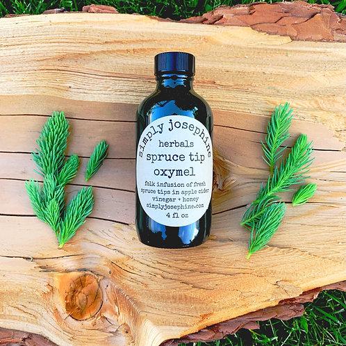 spruce tip oxymel + herbal remedy