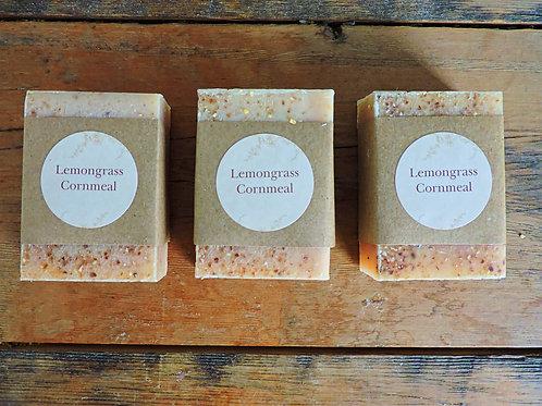 lemongrass cornmeal + handmade soap + 3 bars