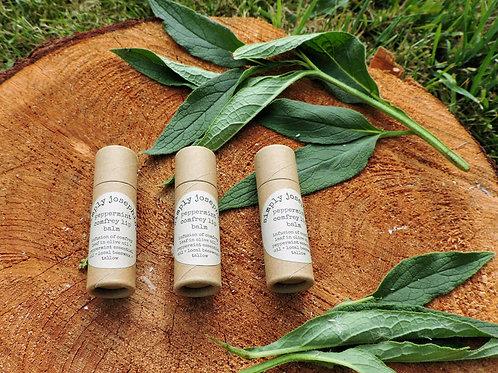 peppermint comfrey tallow lip balms + 3 tubes