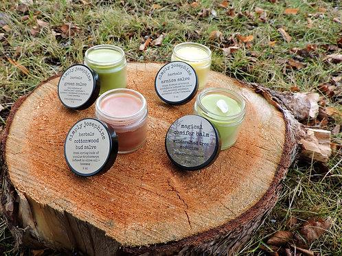 herbal salves + buy three + get one free