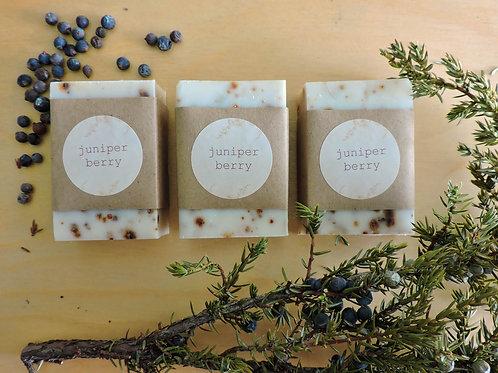 juniper berry tallow + handmade soap + essential oil free soap + 3 bars