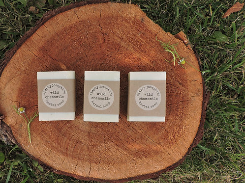 wild chamomile tallow + handmade soap + essential oil free + 3 bars