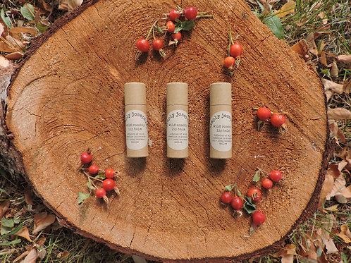 wild rosehip tallow lip balm + 3 tubes + essential oil free