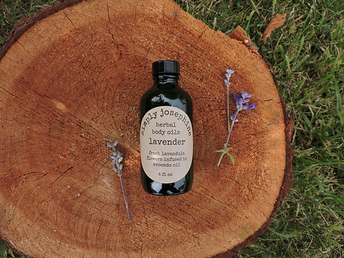lavender body oil + essential oil free