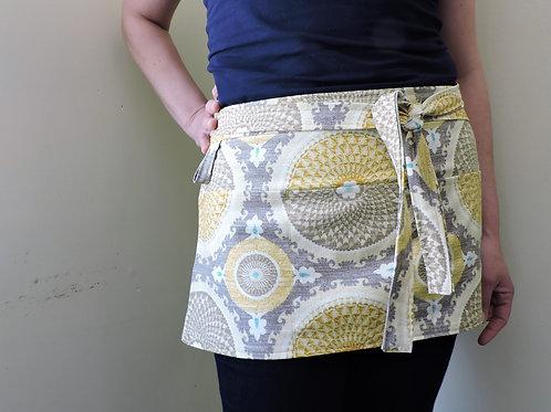 gardener apron + heavy duty apron + bohemian swirl apron
