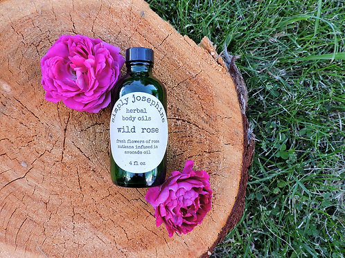 wild rose herbal body oil + essential oil free