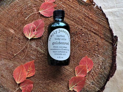 goldenrod body oil + herbal oil + essential oil free