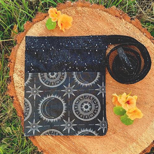 black celestial half apron