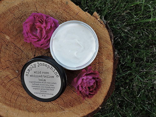 wild rose whipped tallow balm + organic grass fed