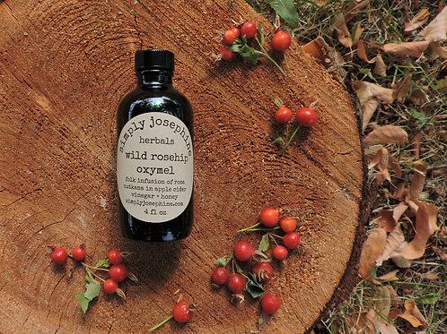 wild rosehip oxymel