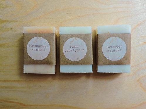 variety pack + handmade soap + 3 bars