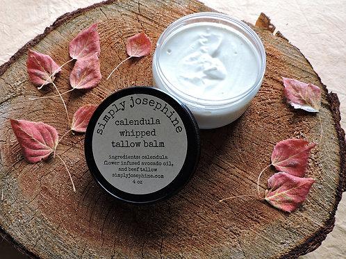 calendula whipped tallow balm + essential oil free