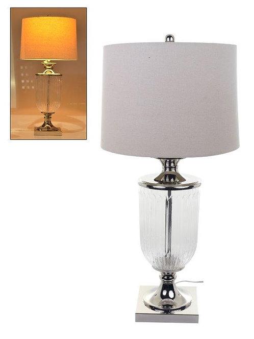Abajur/Lampada de mesa com base de vidro