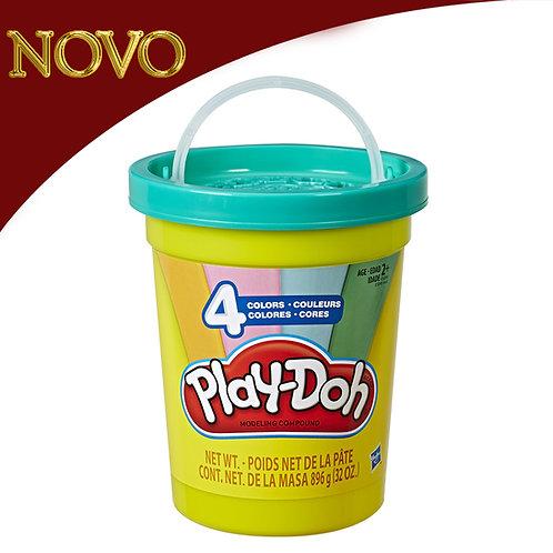 Balde com 4 cores - Play-Doh