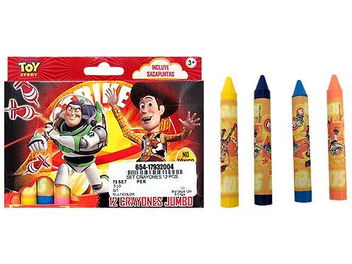 Giz de cera Toy Story - 12 unidades