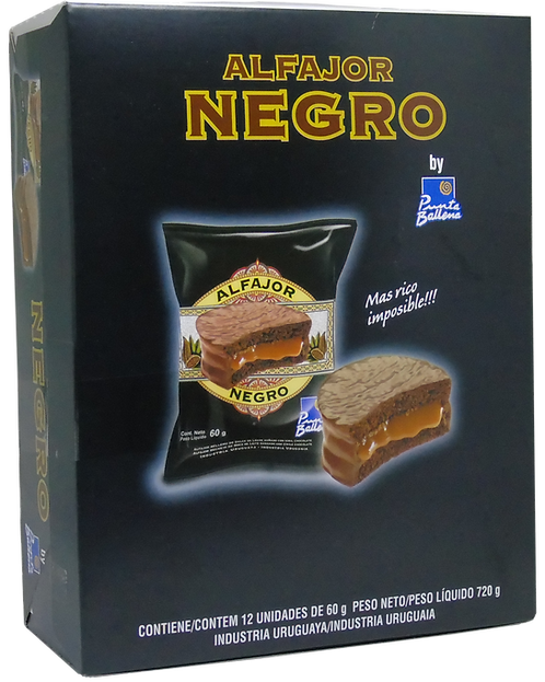 PUNTA BALLENA - Alfajor Negro x12