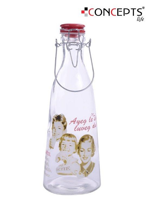 Garrafa de vidro para leite 1Lt