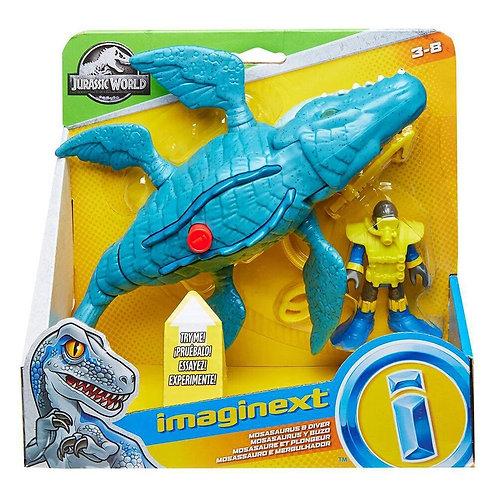 Mossauro e mergulhador - Imaginext