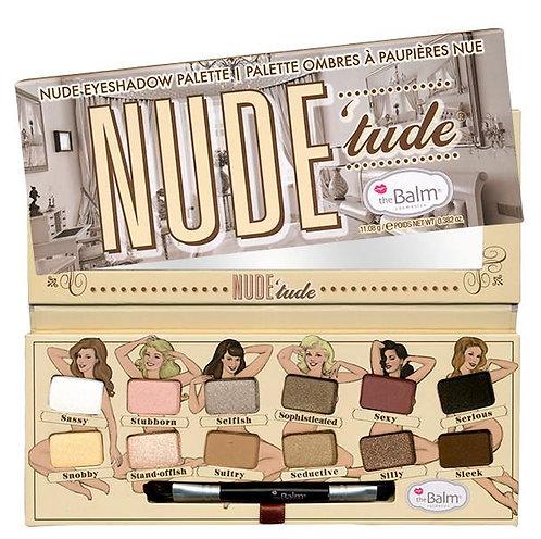 Paleta de sombras + pincel Nude Tude - THE BALM