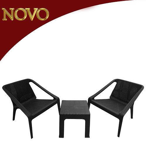 Jogo de 2 cadeiras + 1 mesa para jardim