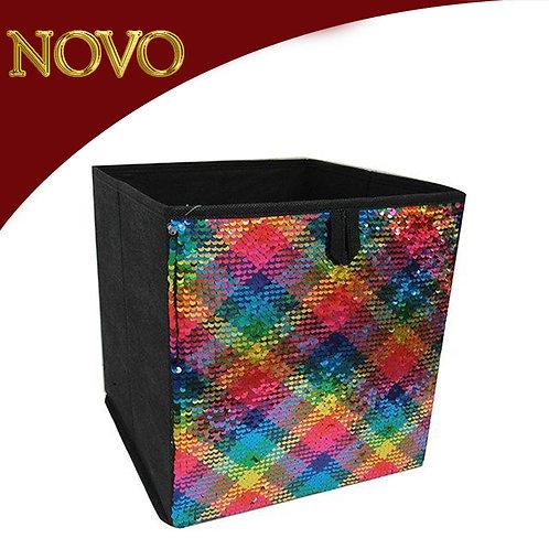 Caixa organizadora lantejoulas coloridas