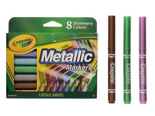 Marcadores Metálicos Crayola - 8 Peças