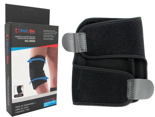 MEDIC MAX - Almofada de cotovelo ajustável com envoltório de compressão