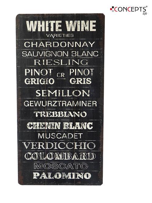 Quadro White Wine - 30x60cm