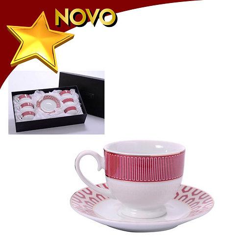 Conjunto de louças para chá - 6 peças