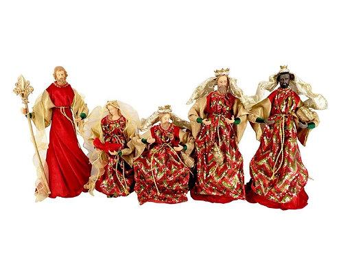 Figuras decorativas p/presépio 30cm - 5 peças