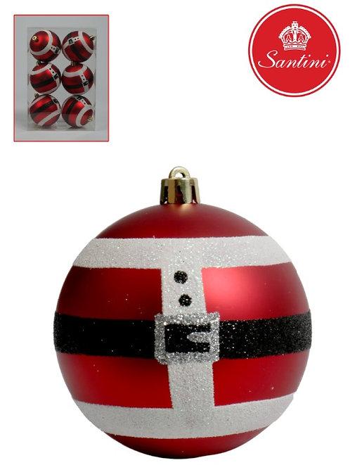 Bola de natal decorativa x6