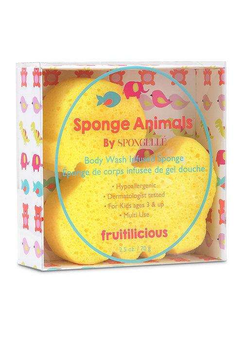 Esponja infantil infusa com gel corporal - Spongellé