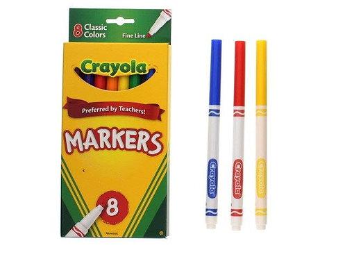 Marcadores Crayola - 8 Peças