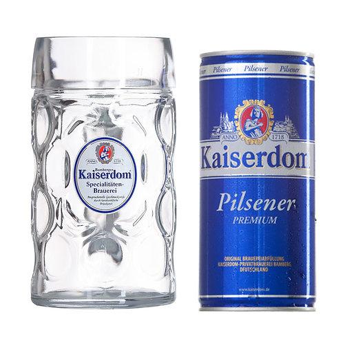Cerveja 1Lt Premium + Copo - KAISERDOM