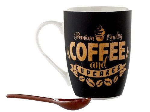 Xícara Quality Coffee + colher