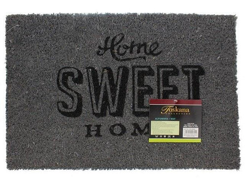 Tapete HomeSweet Home cinza 40x60cm