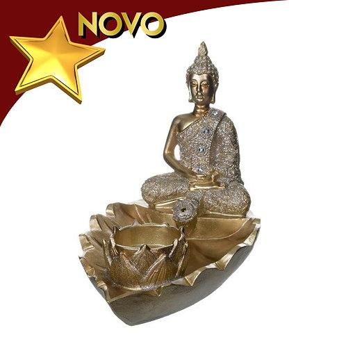 Buda dourado porta incenso