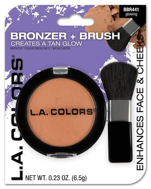Bronzer + pincel - L.A. Colors