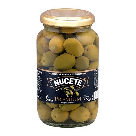 Azeitonas com caroço em conserva 660g - NUCETE